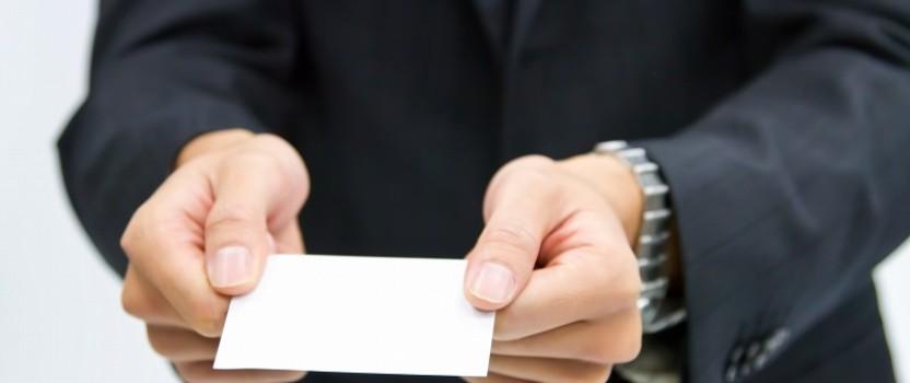 今日の英語: 名刺を頂戴できますか?